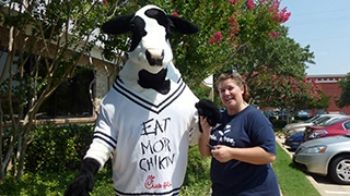 Team member at Chick-Fil-A event