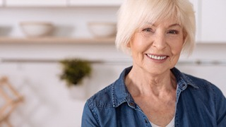 attractive older woman smiling