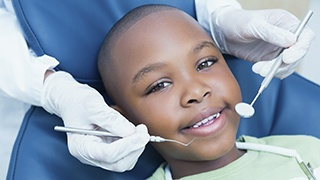 The Colony Children's Dentist young boy smiling