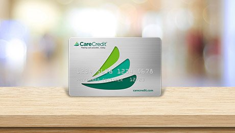CareCredit card on table top