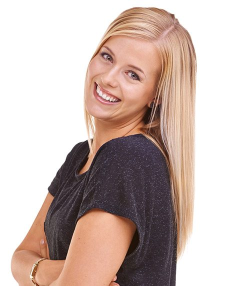 Woman with flawless healthy smile
